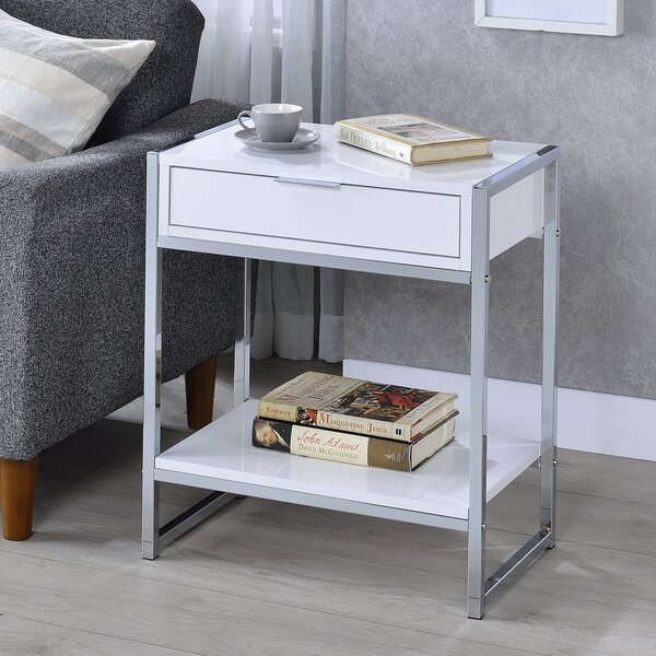 Walhame End Table With Storage By Orren Ellis
