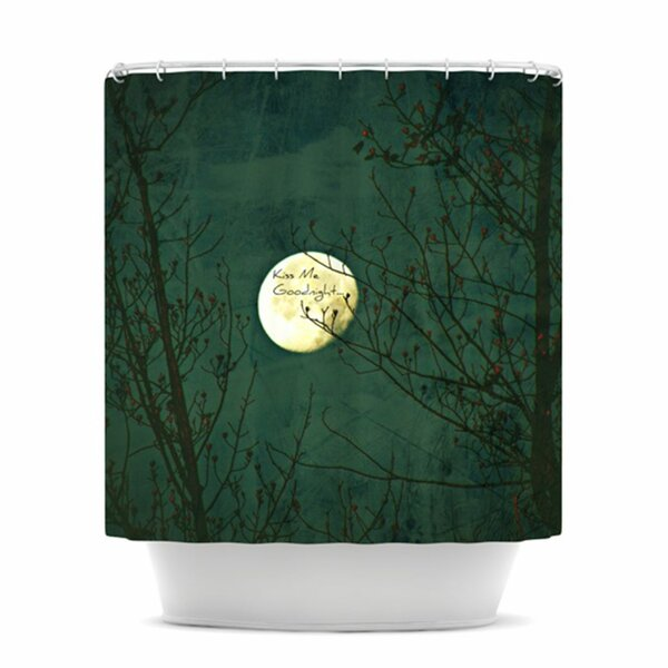 Kiss Me Goodnight Shower Curtain by KESS InHouse