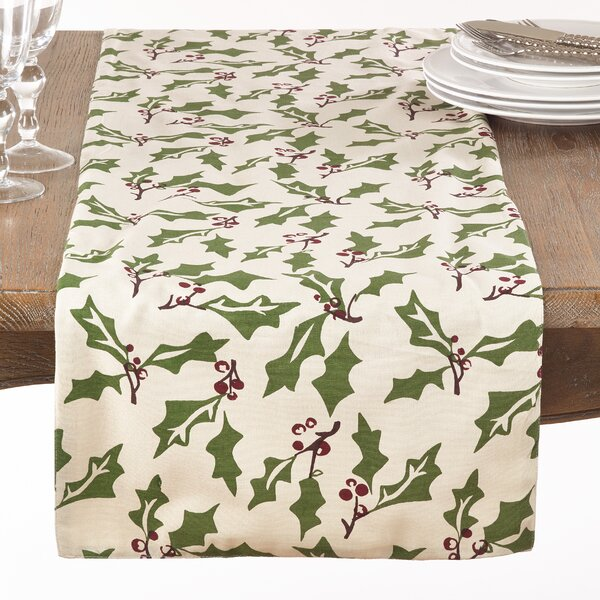 Driggers Holly Berry Christmas Table Runner by The Holiday Aisle
