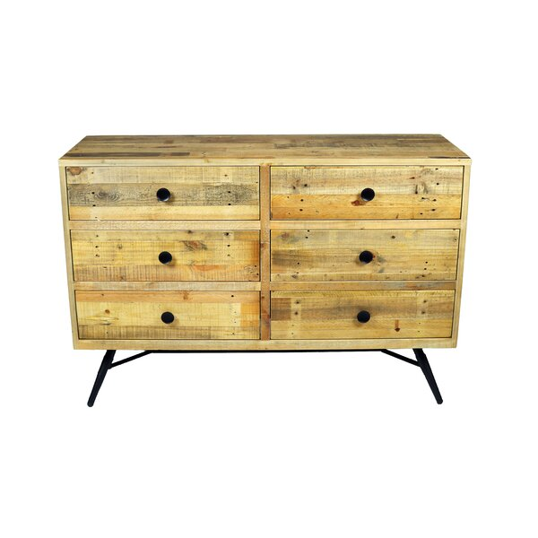 Coda 6 Drawer Double Dresser by Modern Rustic Interiors