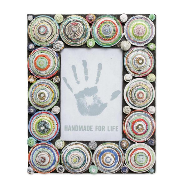 Delmonte Recycled Paper Picture Frame by World Menagerie