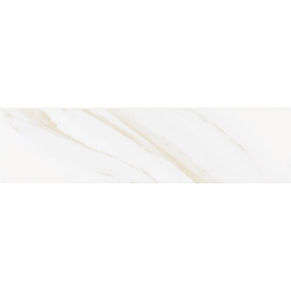 Classique Calacatta Glossy 4 x 16 Ceramic Subway Tile in White by MSI