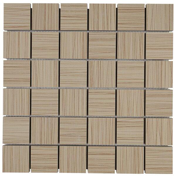 Fabrique 12 x 12 Ceramic Wood Look Tile in Soleil Linen by Daltile