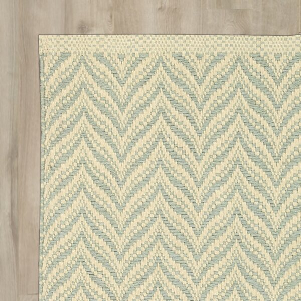 Templos Light Blue/Beige Area Rug by Beachcrest Home