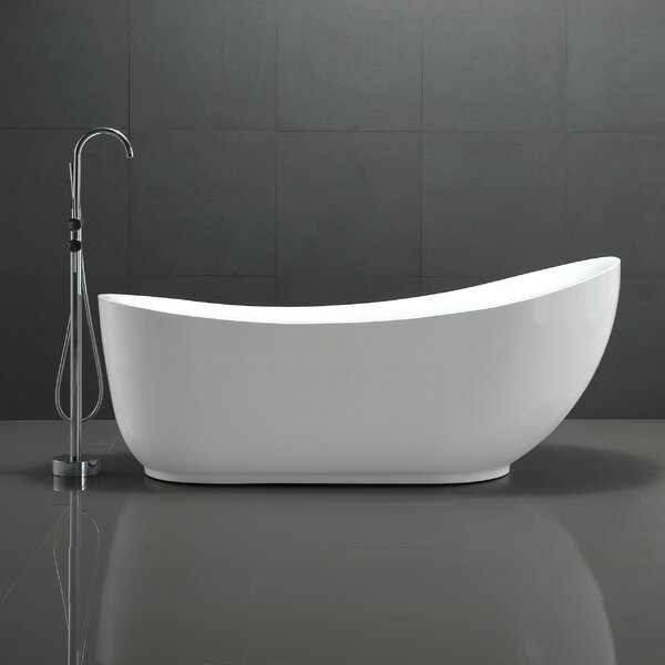 Talyah Series 71 X 30 Freestanding Soaking Bathtub By Anzzi.
