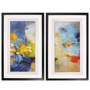'Restless Mind' 2 Piece Framed Painting Print Set by Propac Images