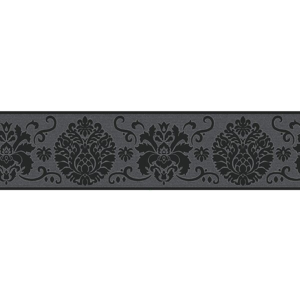 Campbell 16 X 4 9 Damask Peel And Stick Border Wallpaper Set Of 2 By Wallpops.