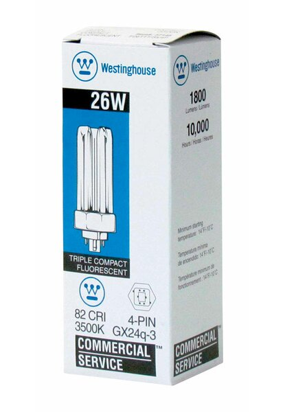 26W GX24q Dimmable Compact Fluorescent Stick Light Bulb by Westinghouse Lighting