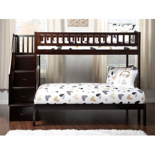 Bargain Westbrook Staircase Bunk Twin over Twin Bed With Drawers By Atlantic Furniture