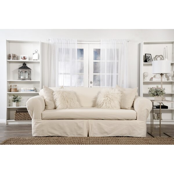 Box Cushion Loveseat Slipcover By Darby Home Co