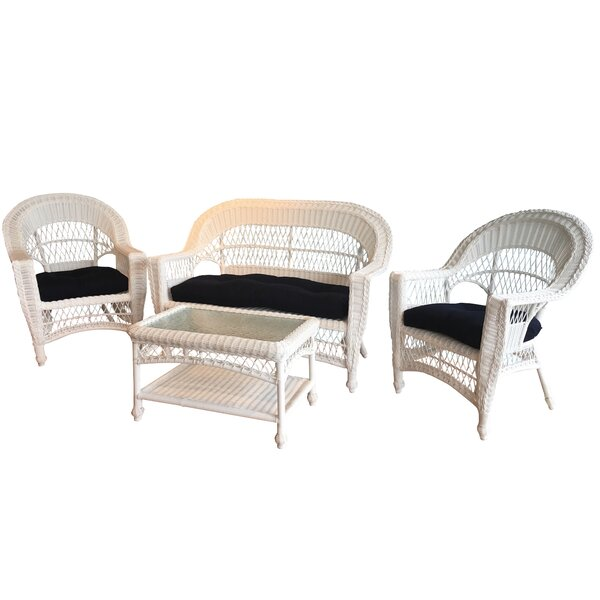 Camacho Lounge Sunbrella Seating Group with Cushions by August Grove