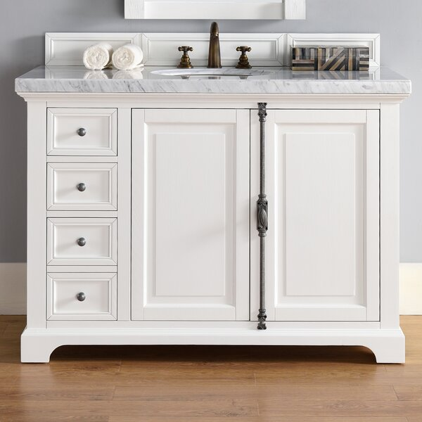 Ogallala 48 Single Cottage White Wood Base Bathroom Vanity Set by Greyleigh
