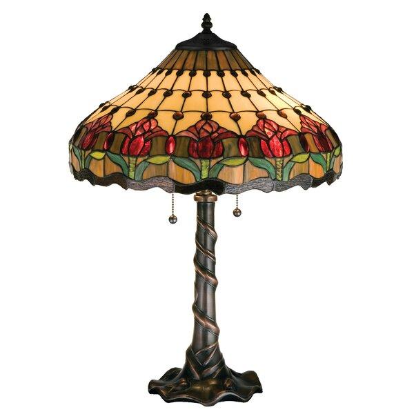 Colonial Tulip 25.5 Table Lamp by Meyda Tiffany