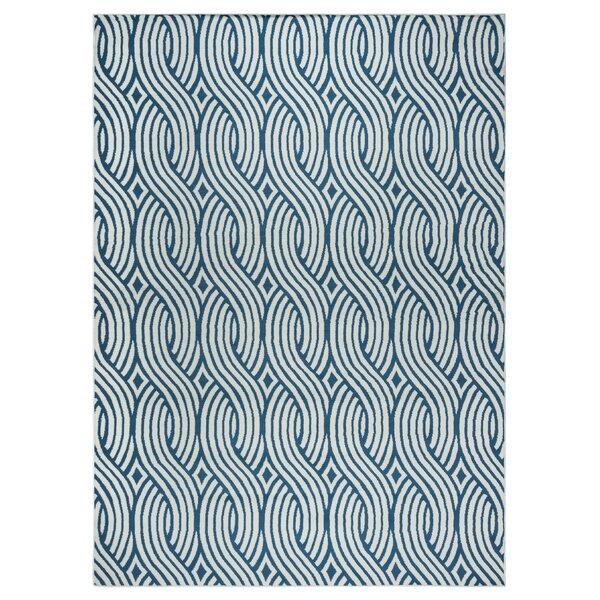 Priscila Power Loom Blue/Gray Rug