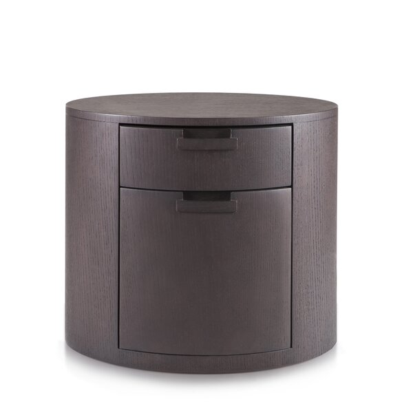 Arc 2 Drawer Nightstand by Tao