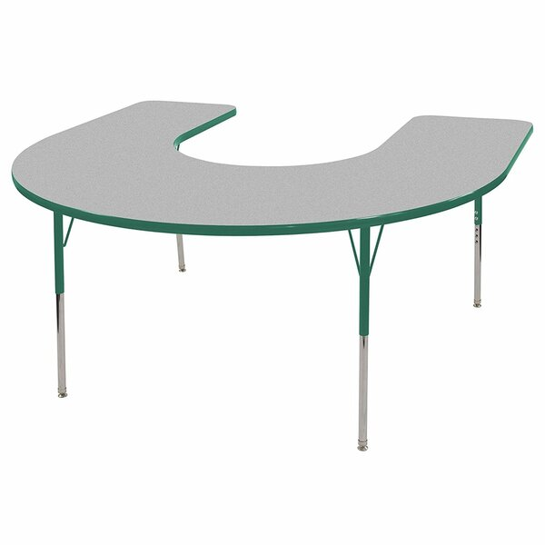Thermo-Fused Adjustable 60 x 66 Horseshoe Activity Table by ECR4kids