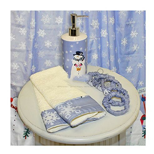 Let it Snow Resin Shower Curtain Set by The Holiday Aisle