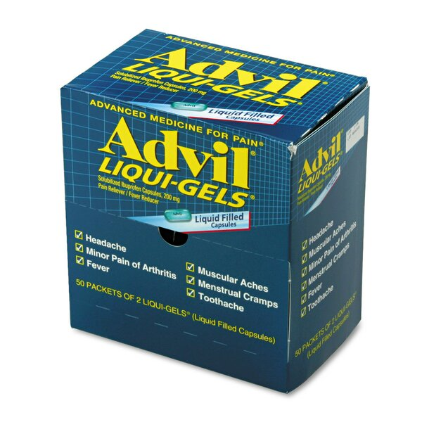 Advil Tablets Pain Reliever Refill (50 Packs per Box) (Set of 2) by Acme United Corporation