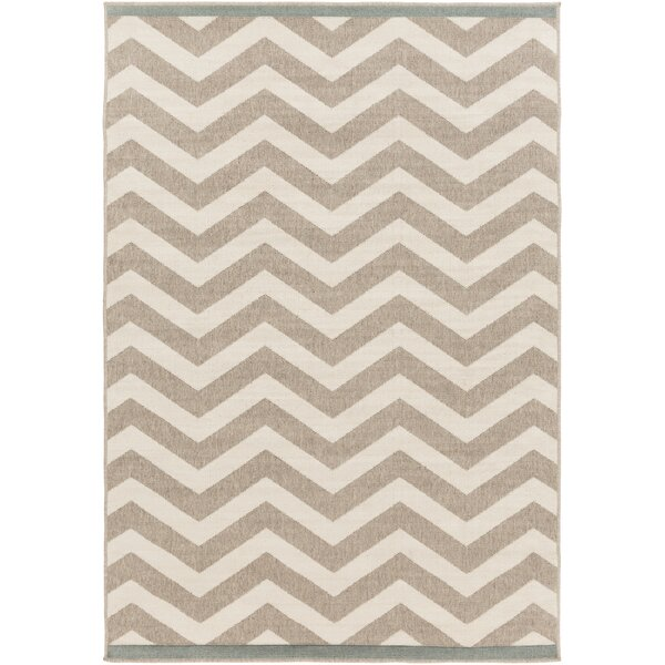 Breana Ivory/Taupe Indoor/Outdoor Area Rug by Wins