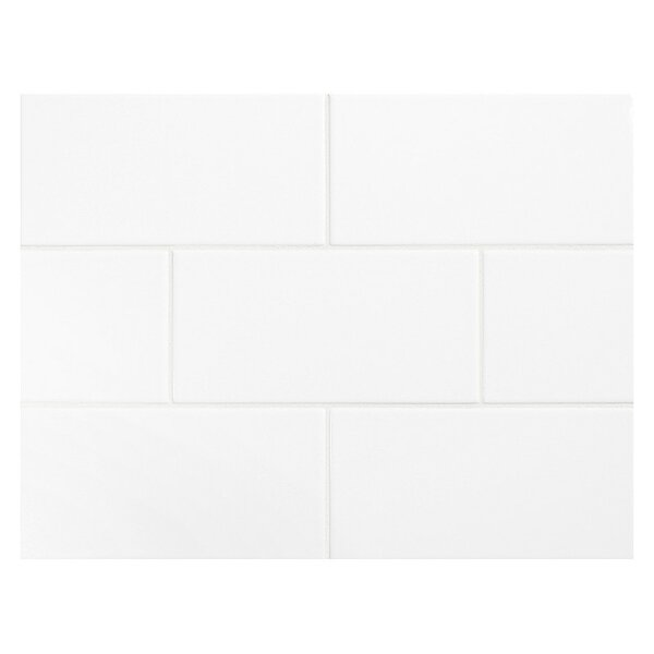 Value Series 3 x 6 Ceramic Subway Tile in Bright Glossy White by WS Tiles