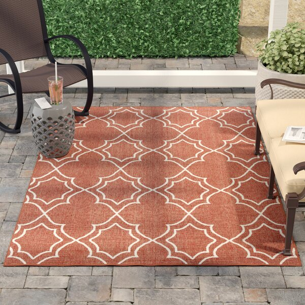 Amato Red Indoor/Outdoor Area Rug by Alcott Hill