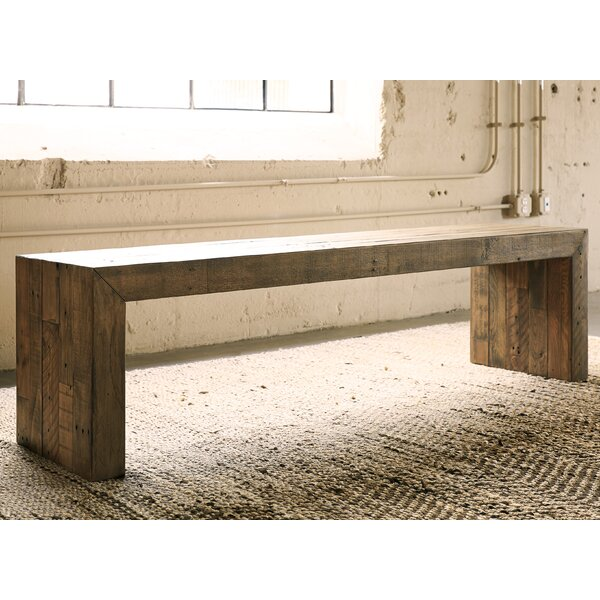 Gino Wood Bench by Mistana