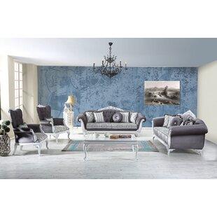 Hoopes 4 Piece Standard Living Room Set by Rosdorf Park