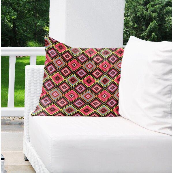Garnett Cotton Indoor/Outdoor Geometric Euro Pillow