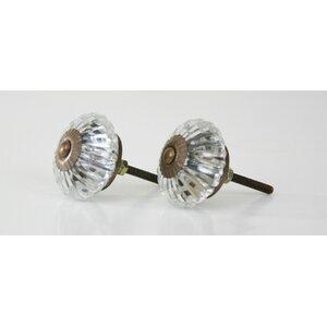 Marigold Glass Crystal Knob (Set of 2)