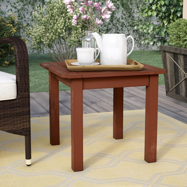 Dowling Wooden Side Table by Three Posts