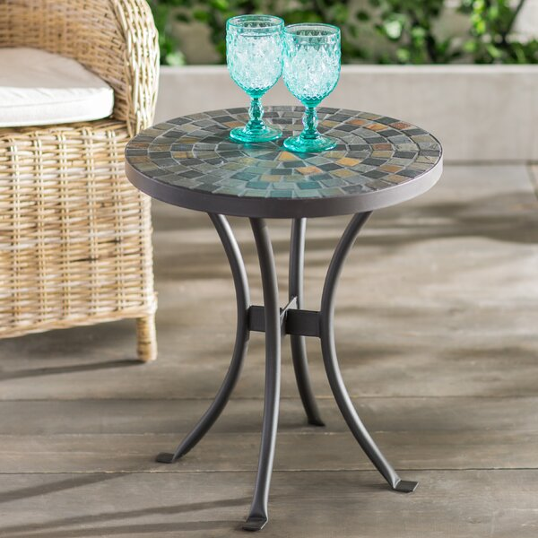Brie Mosaic Side Table by Beachcrest Home