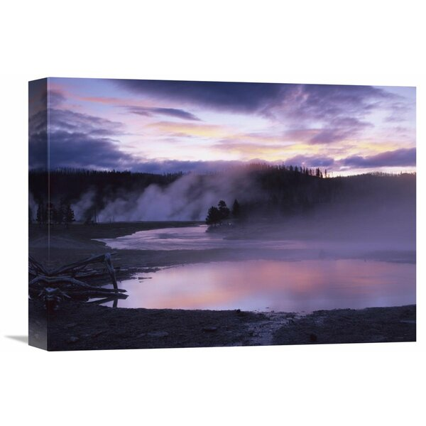 Nature Photographs Steaming Hot Springs, Midway Geyser Basin, Yellowstone National Park, Wyoming Photographic Print on Wrapped Canvas by Global Gallery