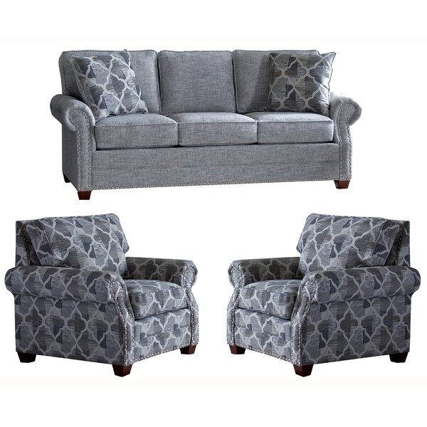 Peebles 3 Piece Sleeper Living Room Set by Canora Grey