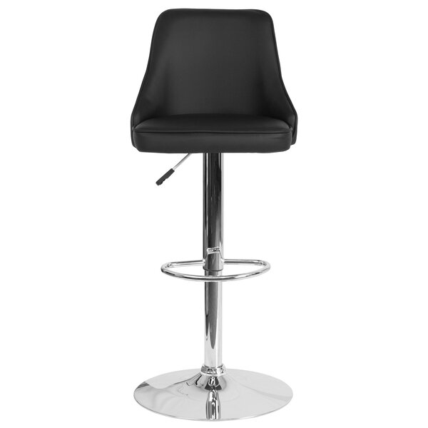 Glencoe Adjustable Height Bar Stool by Wrought Studio
