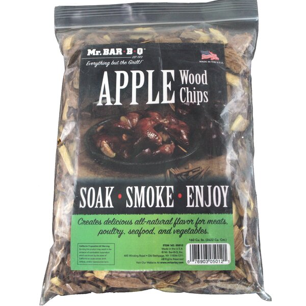 Apple Wood Smoking Chips (Set of 2) by Mr. Bar-B-Q