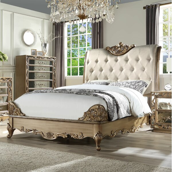 Linzy Upholstered Standard Bed by Rosdorf Park
