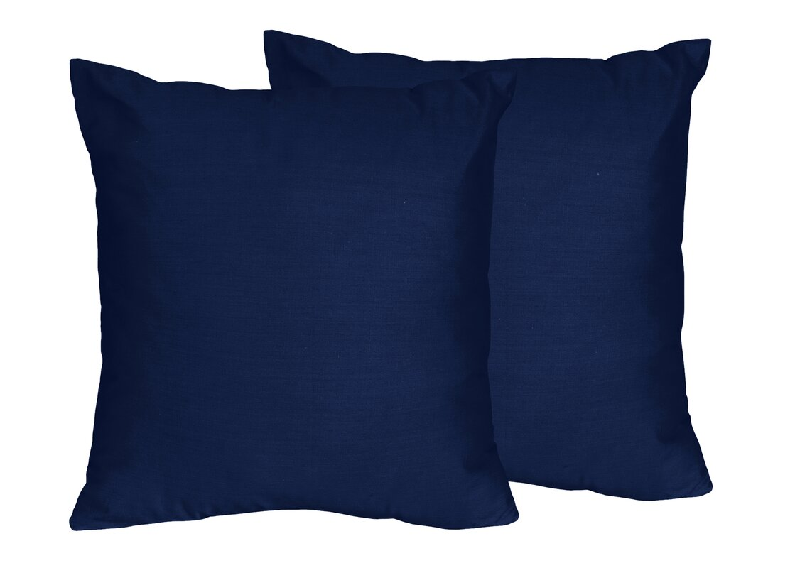 Schular Solid Navy Blue Throw Pillows