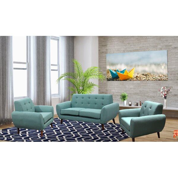Deandre 3 Piece Living Room Set by George Oliver