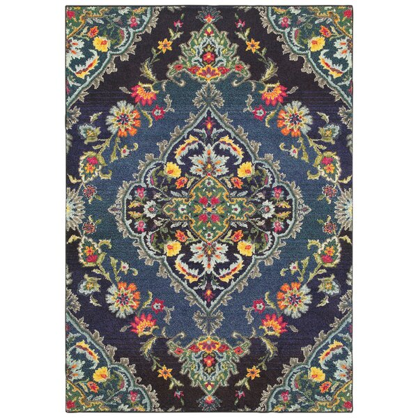 Belmonte Navy/Blue Area Rug by Bungalow Rose