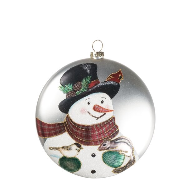 Snowman with Friends Disc Ball Ornament (Set of 6) by The Holiday Aisle