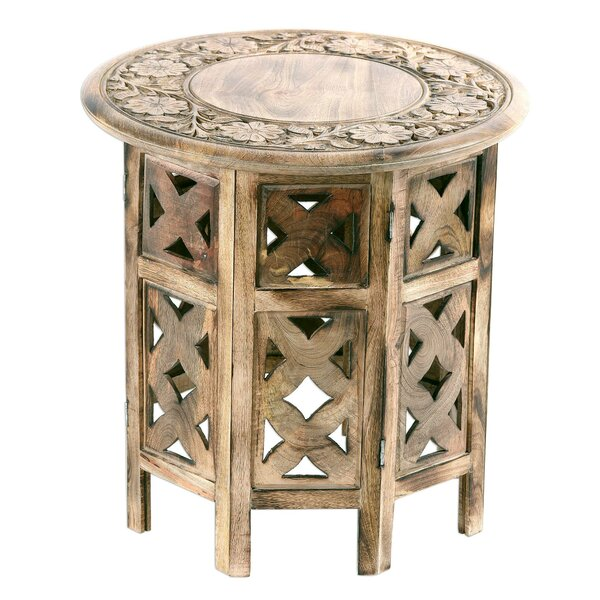 Abbingt Floral Festivity Wood End Table by Bloomsbury Market