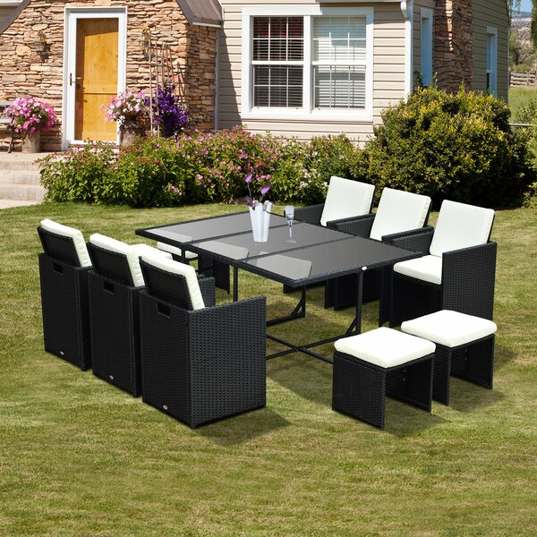 Prudence 11 Piece Dining Set With Cushions By Wrought Studio