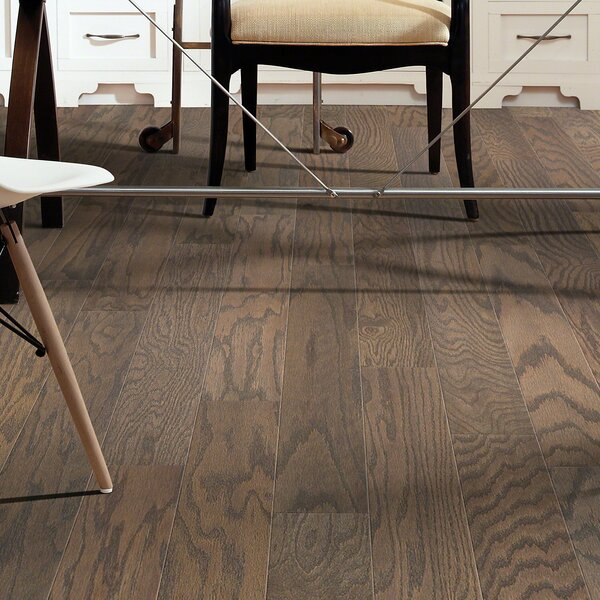 Prestige Oak 4.8 Engineered Oak Hardwood Flooring in Weathered by Shaw Floors