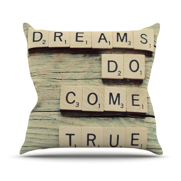 Dreams Outdoor Throw Pillow by East Urban Home