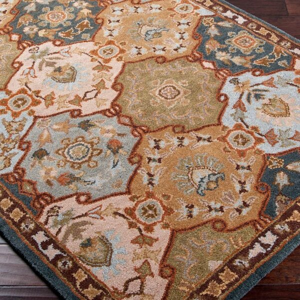 Topaz Brown/Blue Area Rug by World Menagerie