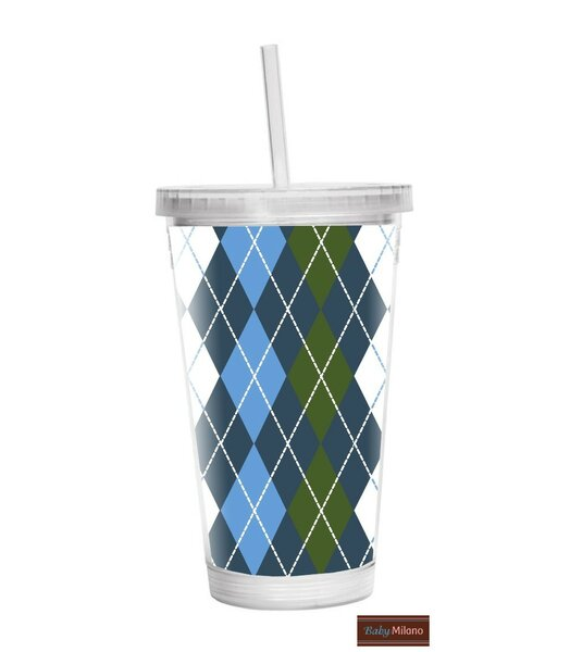 Argyle 16 oz. Plastic Travel Tumbler by Baby Milano