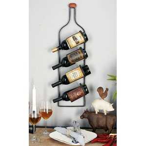 4 Bottle Wall Mounted Wine Rack by Cole & Grey