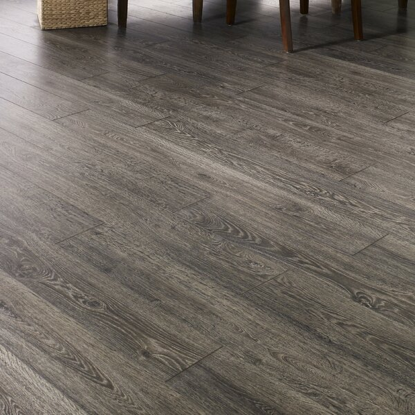 Restoration 6'' x 51'' x 12mm Oak Laminate Flooring in Fumed by Mannington