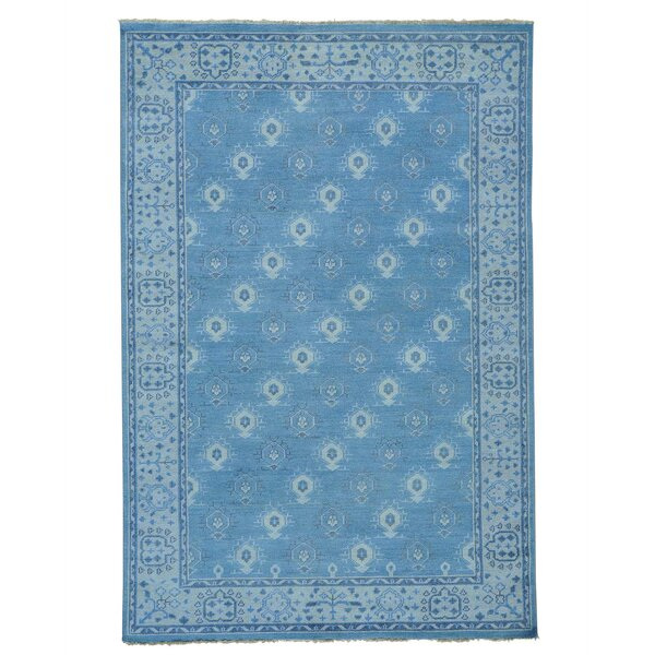One-of-a-Kind Oritz Knot Oushak Cropped Oriental Hand-Knotted Area Rug by One Allium Way