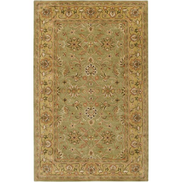 Stanford Handmade Tufted Wool Caper Green Rug
